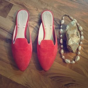 Elisabeth and James Peach Suede Shoes size 6B